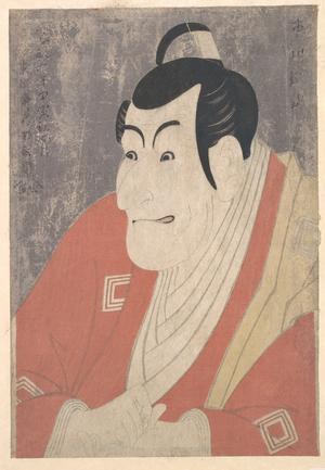 東洲斎写楽: Ichikawa Ebizô IV as Takemura Sadanojô in the Play Koinyôbô Somewake Tazuna - メトロポリタン美術館