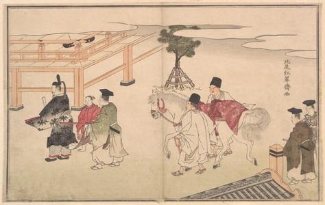 北尾重政: Hakuba no Sechie - メトロポリタン美術館