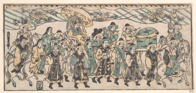 Nishimura Shigenaga: The Korean Ambassador on His Way to the Capital - Metropolitan Museum of Art