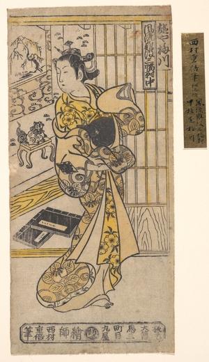 石川豊信: The House of Umegawa - メトロポリタン美術館