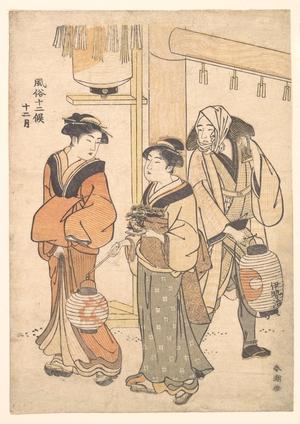 勝川春潮: The Twelfth Month: December - メトロポリタン美術館