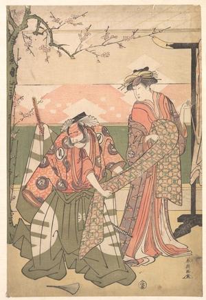 勝川春潮: Scene From a Drama - メトロポリタン美術館