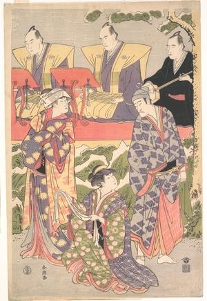 勝川春潮: Ichikawa Komazo II in the Role of Ouchinosuke Ujiyasu from the Play