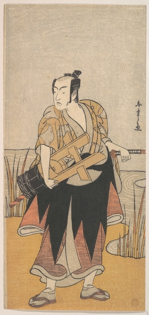 勝川春章: The Fourth Matsumoto Koshiro as a Man Standing on the Bank of a River - メトロポリタン美術館
