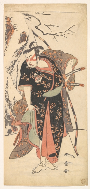 勝川春章: The Second Nakamura Juzo as a Samurai of High Rank - メトロポリタン美術館
