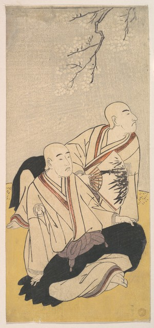 Katsukawa Shunsho: The Third Sawamura Sojuro & the Second Ichikawa Monnosuke as Buddhist Monks - Metropolitan Museum of Art