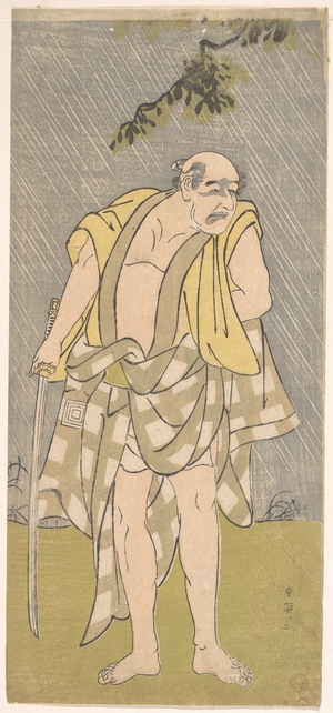 勝川春英: The Actor Ichikawa Danzô IV in the Role of Ono Sadakurô - メトロポリタン美術館
