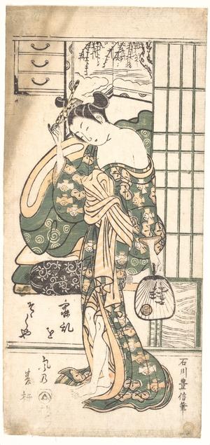 Ishikawa Toyonobu: Summer Willow in the Breeze - Metropolitan Museum of Art
