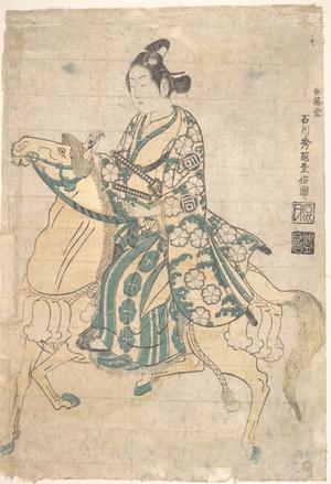 Ishikawa Toyonobu: Actor Sanokawa Ichimatsu as Young Samurai riding on Horse-back - Metropolitan Museum of Art