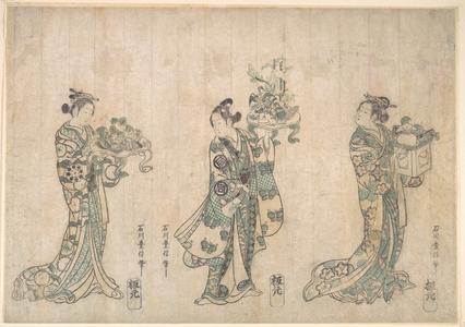 Ishikawa Toyonobu: Three Actors - Metropolitan Museum of Art