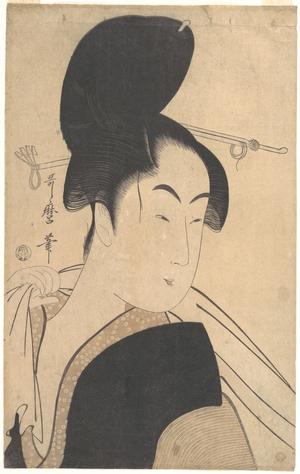 喜多川歌麿: Woman after a Bath - メトロポリタン美術館