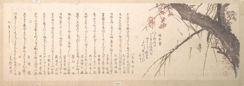 窪俊満: Plum Blossom - メトロポリタン美術館