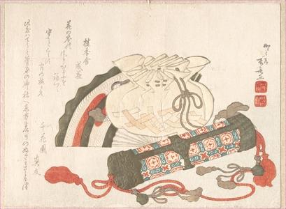 柳々居辰斎: Fan, Bag and Incense-Tube - メトロポリタン美術館