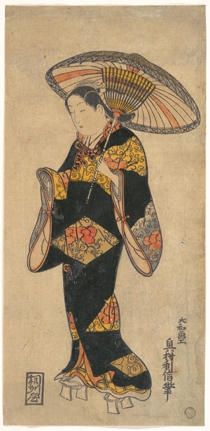 Okumura Toshinobu: Actor (Sanjo Kantaro?) in the Role of a Courtesan - Metropolitan Museum of Art