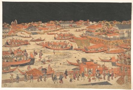 Utagawa Toyoharu: Kawabiraki - Metropolitan Museum of Art