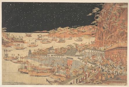 Utagawa Toyoharu: Battle of Ichi–no–tani, March 21, 1184 - Metropolitan Museum of Art