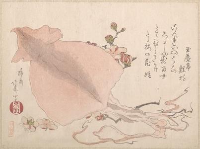 Teisai Hokuba: Dried Cuttle-Fish and Plum Blossoms - Metropolitan Museum of Art