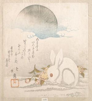 Shunkosai Hokushu: Moon; White Hare in Snow - Metropolitan Museum of Art