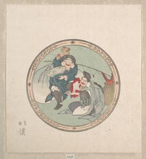 Totoya Hokkei: Ebisu and Daikoku; Two of the Seven Gods of Good Fortune - Metropolitan Museum of Art