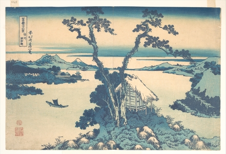 Katsushika Hokusai: Lake Suwa in Shinano Province (Shinshû Suwako), from the series Thirty-six Views of Mount Fuji (Fugaku sanjûrokkei) - Metropolitan Museum of Art