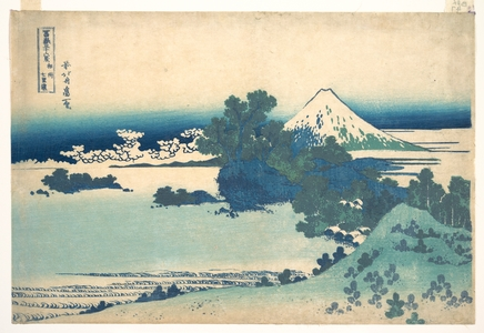 Katsushika Hokusai: Shichirigahama in Sagami Province (Sôshû Shichirigahama), from the series Thirty-six Views of Mount Fuji (Fugaku sanjûrokkei) - Metropolitan Museum of Art