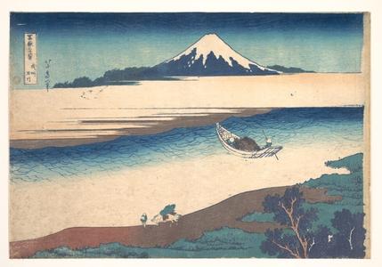 Katsushika Hokusai: Tama River in Musashi Province (Bushû Tamagawa), from the series Thirty-six Views of Mount Fuji (Fugaku sanjûrokkei) - Metropolitan Museum of Art