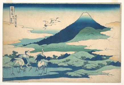 Katsushika Hokusai: Umezawa Manor in Sagami Province (Sôshû Umezawa zai), from the series Thirty-six Views of Mount Fuji (Fugaku sanjûrokkei) - Metropolitan Museum of Art