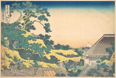 葛飾北斎: Surugadai in Edo (Tôto Sundai), from the series Thirty-six Views of Mount Fuji (Fugaku sanjûrokkei) - メトロポリタン美術館