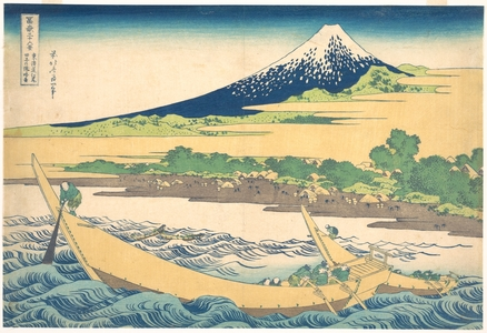 Katsushika Hokusai: Tago Bay near Ejiri on the Tôkaidô (Tôkaidô Ejiri Tago no ura ryaku zu), from the series Thirty-six Views of Mount Fuji (Fugaku sanjûrokkei) - Metropolitan Museum of Art