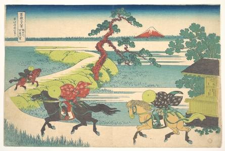 Katsushika Hokusai: Sekiya Village on the Sumida River (Sumidagawa Sekiya no sato), from the series Thirty-six Views of Mount Fuji (Fugaku sanjûrokkei) - Metropolitan Museum of Art
