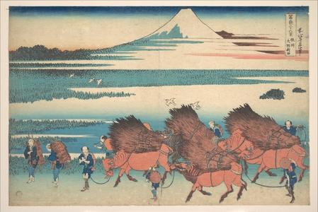 Katsushika Hokusai: The New Fields at Ôno in Suruga Province (Sunshû Ôno shinden), from the series Thirty-six Views of Mount Fuji (Fugaku sanjûrokkei) - Metropolitan Museum of Art