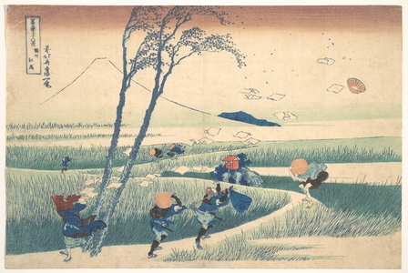 Katsushika Hokusai: Ejiri in Suruga Province (Sunshû Ejiri), from the series Thirty-six Views of Mount Fuji (Fugaku sanjûrokkei) - Metropolitan Museum of Art
