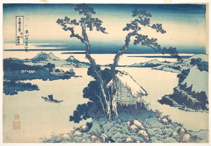 葛飾北斎: Lake Suwa in Shinano Province (Shinshû Suwako), from the series Thirty-six Views of Mount Fuji (Fugaku sanjûrokkei) - メトロポリタン美術館