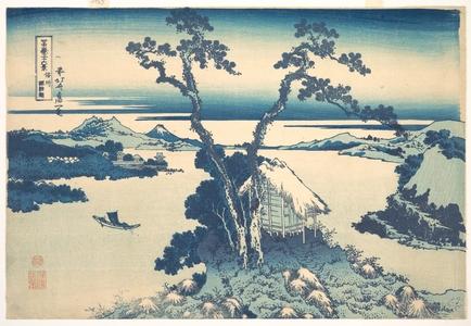 Katsushika Hokusai: Lake Suwa in Shinano Province (Shinshû Suwako), from the series Thirty-six Views of Mount Fuji (Fugaku sanjûrokkei) - Metropolitan Museum of Art