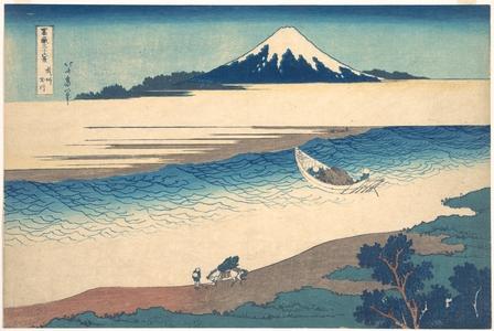葛飾北斎: Tama River in Musashi Province (Bushû Tamagawa), from the series Thirty-six Views of Mount Fuji (Fugaku sanjûrokkei) - メトロポリタン美術館