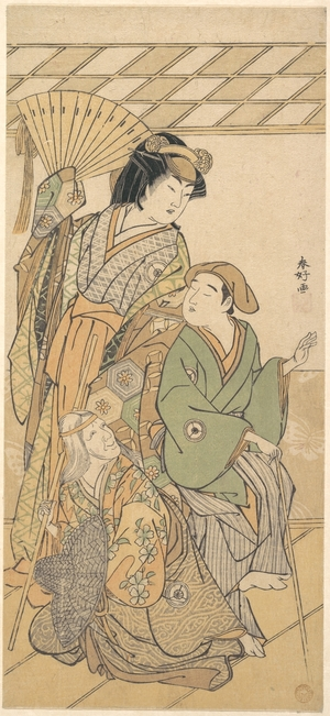 勝川春好: The Fourth Iwai Hanshiro in three roles of the shosa