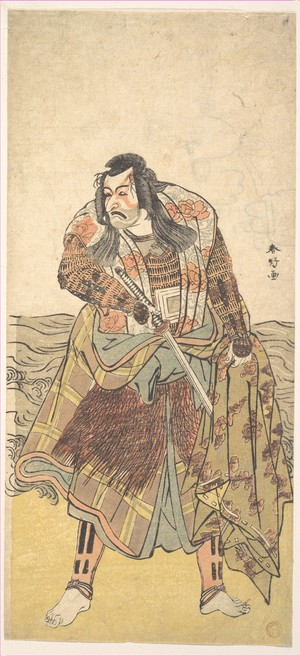 Katsukawa Shunko: The Fifth Ichikawa Danjuro as a Samurai - Metropolitan Museum of Art