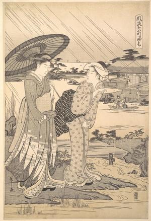 細田栄之: Ono no Komachi Praying for Rain - メトロポリタン美術館