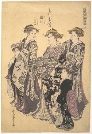 細田栄之: Courtesan District of Edo - メトロポリタン美術館