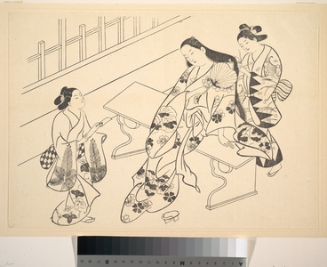 Okumura Masanobu: A Kamuro is Shown Bringing a Love Letter to Her Mistress - Metropolitan Museum of Art