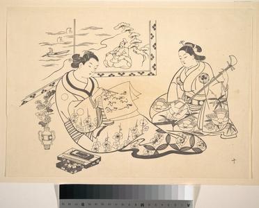 Okumura Masanobu: Two Women Seated in a Parlor - Metropolitan Museum of Art