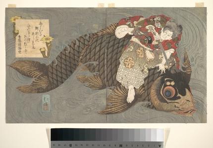 Totoya Hokkei: Shiei (?) on His Carp - Metropolitan Museum of Art