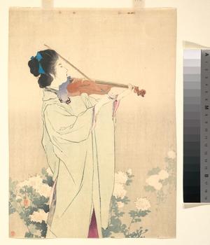 鏑木清方: Morning Dew - メトロポリタン美術館