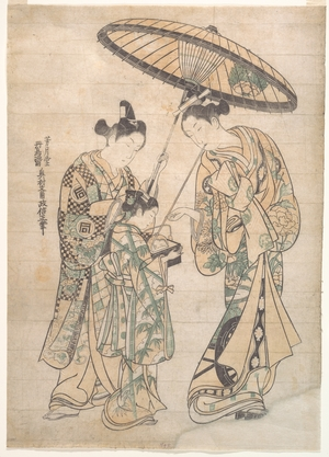 Okumura Masanobu: Two Figures - Metropolitan Museum of Art