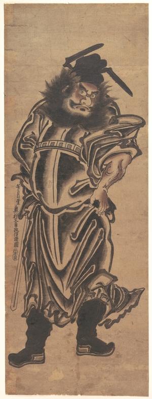 奥村政信: Shoki, the Demon–Queller - メトロポリタン美術館