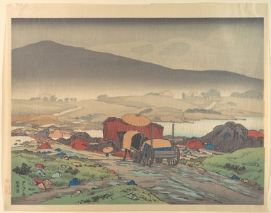 Hashiguchi Goyo: Cart in Rainy Landscape - Metropolitan Museum of Art