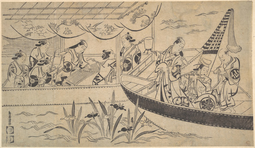 Torii Kiyomasu I: An Actor's Boating Party on the Sumida River - Metropolitan Museum of Art