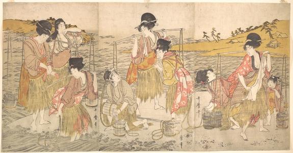 喜多川歌麿: The Dance of the Beach Maidens - メトロポリタン美術館