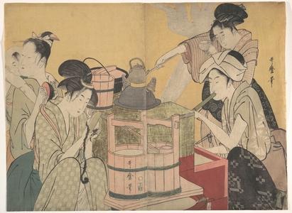 喜多川歌麿: The Kitchen - メトロポリタン美術館