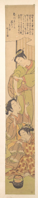Isoda Koryusai: Three Girls Drinking Sake - Metropolitan Museum of Art